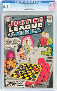 Justice League of America #1 (DC, 1960) CGC VG+ 4.5 Off-white to white pages