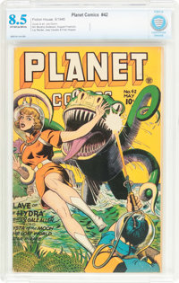 Planet Comics #42 (Fiction House, 1946) CBCS VF+ 8.5 Off-white to white pages