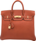 Luxury Accessories:Bags, Hermes 32cm Etrusque Ardennes Leather HAC Birkin Bag with GoldHardware. C Square, 1999. Excellent Condition.12.5...
