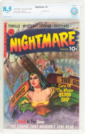 Golden Age (1938-1955):Horror, Nightmare #1 (Ziff-Davis, 1952) CBCS VF+ 8.5 White pages....