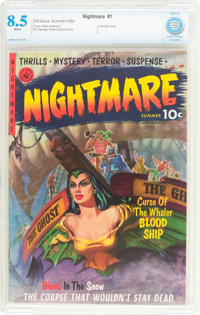 Nightmare #1 (Ziff-Davis, 1952) CBCS VF+ 8.5 White pages