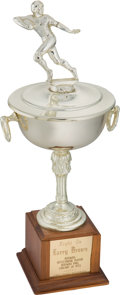 Football Collectibles:Others, 1972 Redskins Outstanding Player Trophy Presented to Larry Brown. ...