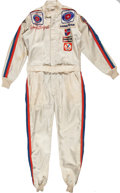 Miscellaneous Collectibles:General, 1977 Johnny Rutherford Race Worn Fire Suit....