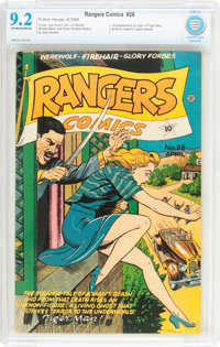 Rangers Comics #28 (Fiction House, 1946) CBCS NM- 9.2 Off-white to white pages