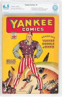 Yankee Comics #1 (Chesler, 1941) CBCS FN+ 6.5 Off-white to white pages