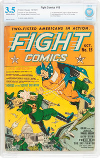Fight Comics #15 (Fiction House, 1941) CBCS VG- 3.5 Slightly brittle pages