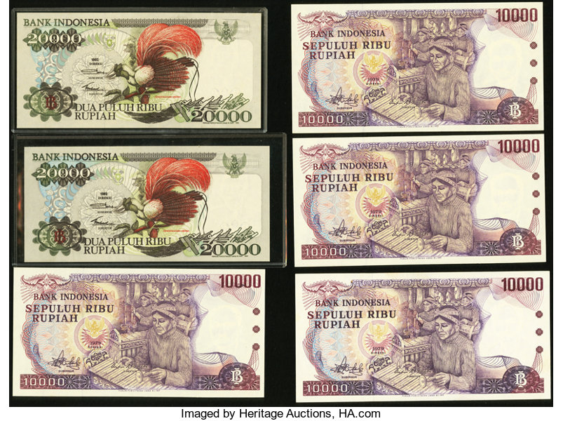 Indonesia Bank of Indonesia 1977-1992       (Total: 9 notes