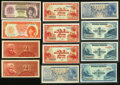 World Currency, Indonesia 1950-56.. ... (Total: 12 notes)