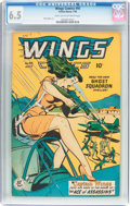 Golden Age (1938-1955):Adventure, Wings Comics #95 (Fiction House, 1948) CGC FN+ 6.5 Dark tan to off-white pages....