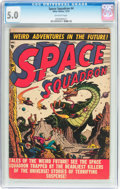 Golden Age (1938-1955):Science Fiction, Space Squadron #4 (Atlas, 1951) CGC VG/FN 5.0 Off-white pages....