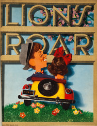 """Lion's Roar (MGM, 1941-44, 1946). Bound Magazines (5) (11"""" X 14""""). ... (Total: 5 Items)"""