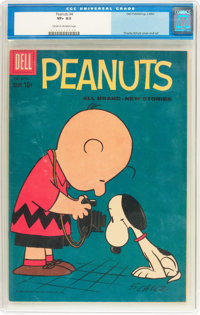 Peanuts #4 (Dell, 1960) CGC VF+ 8.5 Cream to off-white pages