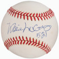 Baseball Collectibles:Tickets, Willie McCovey Single Signed Baseball, PSA Mint 9....