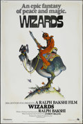 "Movie Posters:Animated, Wizards (Twentieth Century Fox, 1977). Poster (40"" X 60""). Animated Fantasy. Directed by Ralph Bakshi. Starring the voices o..."