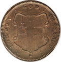 Colonials: , (1694) TOKEN London Elephant Token, Thick Planchet MS64 Brown PCGS. Breen-186, Hodder 2-B, Betts-81. Elephant tokens from t...