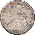 Bust Dimes: , 1830 10C Medium 10C MS64 PCGS. JR-8, R.3. A spindly vertical diecrack through the hair aids attribution. This satiny and p...