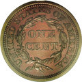 Proof Large Cents: , 1855 1C PR64 Red and Brown PCGS. N-10, R.5. This is a lovelynear-Gem with a pleasingly smooth appearance. Copper-brown and...