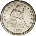Seated Quarters: , 1876-CC 25C MS65 PCGS. The Type One Reverse, which has wide feet onthe A in STATES; this is the scarcer variety. Essential...
