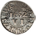 Colonials: , 1652 6PENCE Pine Tree Sixpence VF20 PCGS. Noe-33, Crosby 1-A, R.3. 27.5 grains. Noe-33 and Noe-33a are from the same dies, ...