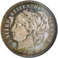 1879 10C Washlady Dime, Judd-1584, Pollock-1777, High R.6, PR66 NGC. Ex: Genaitis. The Washlady design is attributed to...