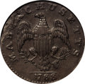 1788 1C Massachusetts Cent, No Period--Planchet Flaw--NCS. AU Details. Ryder 6-N, Low R.3. Ryder's N reverse is the only...
