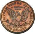 Patterns: , 1878 $5 Five Dollar, Judd-1576, Pollock-1769, Low R.7, PR63 Red andBrown NGC. The obverse depicts Liberty facing left with...