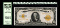 Large Size:Gold Certificates, Fr. 1173 $10 1922 Gold Certificate PCGS Choice About New 58PPQ.Wonderful, eye popping embossing is visible on the brightly ...