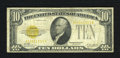Small Size:Gold Certificates, Fr. 2400 $10 1928 Gold Certificate. Fine.. The paper still has plenty of snap to it. Also, the orange overprint is a little ...