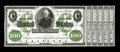 Large Size:Demand Notes, Hessler 1144 $100 1861 Interest Bearing Treasury Note Face ProofChoice New, PC. This ABNCo green and black face design, pla...