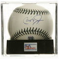 Autographs:Baseballs, 2001 Cal Ripken, Jr. Single All-Star Game Signed Baseball, PSA Mint9. Official All-Star Game baseball with special green a...