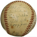 Autographs:Baseballs, 1951 St. Louis Cardinals Team Signed Baseball. Twenty-foursignatures from the 1951 St. Louis Cardinals are offered here, a...