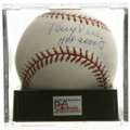 "Autographs:Baseballs, Tony Perez ""HOF 2000"" Single Signed Baseball, PSA Gem Mint 10. TheCuban first baseman for the Big Red Machine makes refere..."