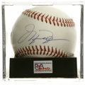 Autographs:Baseballs, Michael Jordan Single Signed Baseball, PSA Mint 9. He may not haveruled the diamond the way he did the hardcourt, but his ...