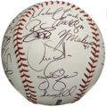 Autographs:Baseballs, 2005 St. Louis Cardinals Team Signed Baseball. Tony LaRussa led his 2005 St. Louis Cardinals to a sparkling 100-win season,...