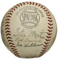 Autographs:Baseballs, 1940 St. Louis Cardinals Team Signed Baseball. Fourteen greatsignatures from the St. Louis Cardinals have been applied to ...