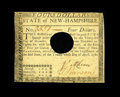Colonial Notes:New Hampshire, New Hampshire April 29, 1780 $4 About New. A lightly circulated example of this typical hole cancelled note with good eye ap...