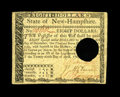 Colonial Notes:New Hampshire, New Hampshire April 29, 1780 $8 Very Fine-Extremely Fine. Thetechnical grade does not do justice to the aesthetic beauty of...