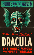 "Movie Posters:Horror, Dracula (Stage Play, 1928). Window Card (14"" X 22"").. ..."