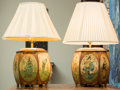 Asian:Japanese, A Pair of Tole Painted Biscuit Barrels Mounted as Lamps, early 20thcentury. 29 inches high (73.7 cm). ... (Total: 2 Items)