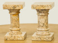 Paintings, A Pair of Neoclassical-Style Marble Stands. 6-1/2 h x 3-1/2 w x 3-1/2 d inches (16.5 x 8.9 x 8.9 cm). ... (Total: 2 Items)