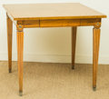 Furniture , A Mid-Century Single-Drawer Oak and Pine Card Table, mid-20th century. 28-1/4 h x 32 w x 32 d inches (71.8 x 81.3 x 81.3 cm)...