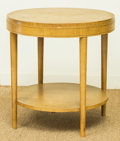 Furniture , A Modern Blonde Wood Side Table, mid-20th century. 25-1/4 h x 24 di inches (64.1 x 61.0 cm). ...