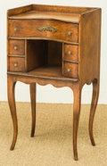 Furniture, An American Oak Sewing Stand, early 20th century. 29-5/8 h x 16-1/8 w x 11-3/8 d inches (75.2 x 41.0 x 28.9 cm). ...