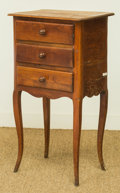 Furniture , A French Provincial-Style Cherrywood Petit Commode, early 20th century. 31 h x 16-3/4 w x 13-1/4 d inches (78.7 x 42.5 x 33....
