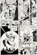 Original Comic Art:Panel Pages, John Romita Sr. and Jim Mooney Spectacular Spider-ManMagazine #1 and Amazing Spider-Man #116 Page 8 O...