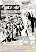 Original Comic Art:Splash Pages, Dick Dillin and Frank McLaughlin Justice League of America #178 Splash Page Original Art (DC, 1980)....
