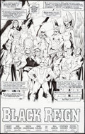 Original Comic Art:Splash Pages, Don Kramer and Keith Champagne JSA #56 Splash Page 1Original Art (DC, 2004)....