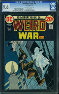 Bronze Age (1970-1979):War, Weird War Tales #10 (DC, 1973) CGC NM+ 9.6 Off-white to white pages.