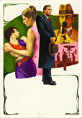 "Movie Posters:Foreign, The Conformist by Piero Ermanno Iaia (Paramount, 1971). OriginalAcrylic Poster Art Painting on Board (14"" X 20"") & Italian ...(Total: 2 Items)"