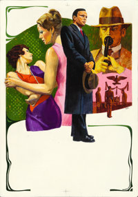 """The Conformist by Piero Ermanno Iaia (Paramount, 1971). Original Acrylic Poster Art Painting on Board (14"""" X 20&quo..."""